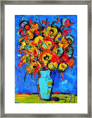 Floral Miniature - Abstract 0215 Framed Print