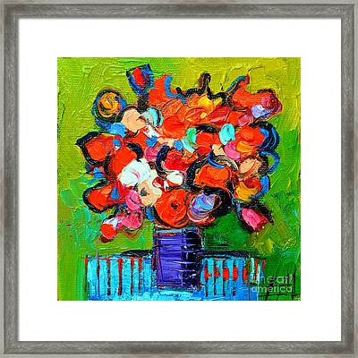 Floral Miniature - Abstract 0315 Framed Print