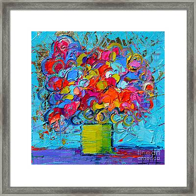 Floral Miniature - Abstract 0415 Framed Print by Mona Edulesco