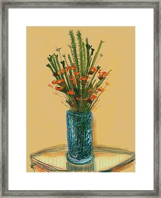 Floral No.28 Framed Print by Russell Pierce