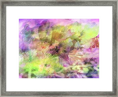 Floral Pastel Abstract Framed Print