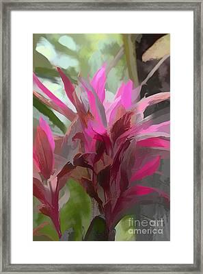 Floral Pastel Framed Print by Tom Prendergast