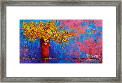 Springs Flowers Modern Impressionist Abstract Floral Palette Knife Work Framed Print by Patricia Awapara