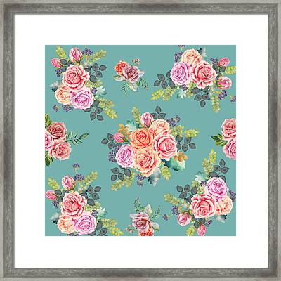 Floral Pattern 2 Framed Print by Stanley Wong