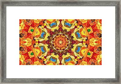 Mandala Of The Sun Framed Print
