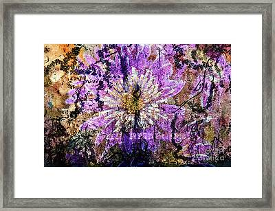 Floral Poetry Of Time Framed Print
