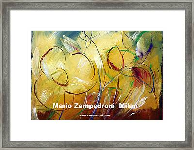 Floral Poster Framed Print by Mario Zampedroni