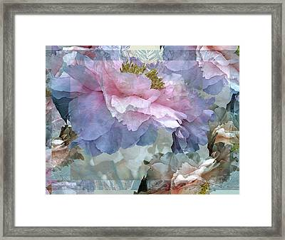 Floral Potpourri With Peonies 24 Framed Print