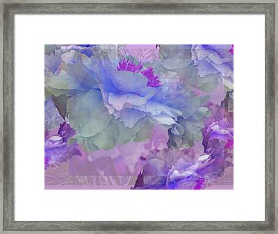 Floral Potpourri With Peonies 4 Framed Print