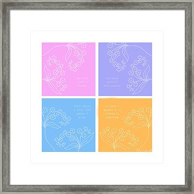 Floral Quotes And Decor Framed Print