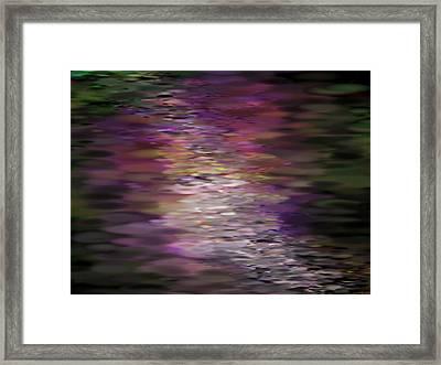 Floral Reflections Framed Print by Sandra Bauser Digital Art