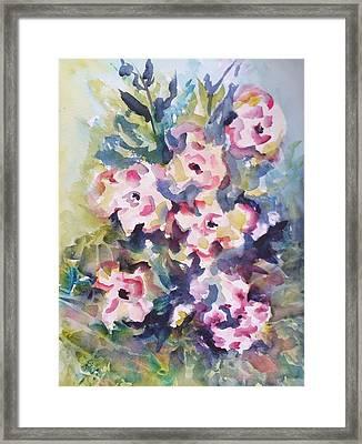 Floral Rhythm Framed Print