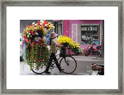 Floral Ride Framed Print