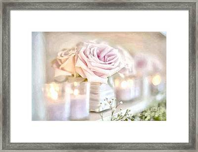 Floral Soft With Candles Framed Print by Catherine Lott