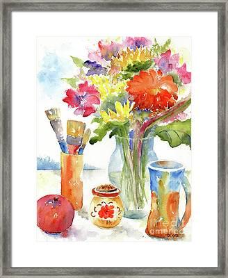Floral Still Life Framed Print by Pat Katz