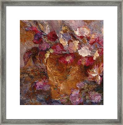 Floral Still Life Pinks Framed Print