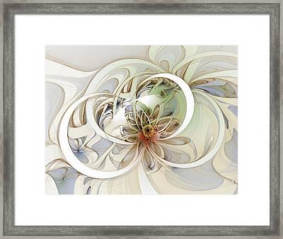 Floral Swirls Framed Print by Amanda Moore