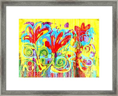 Floral Swirls Framed Print by Pauline Ross