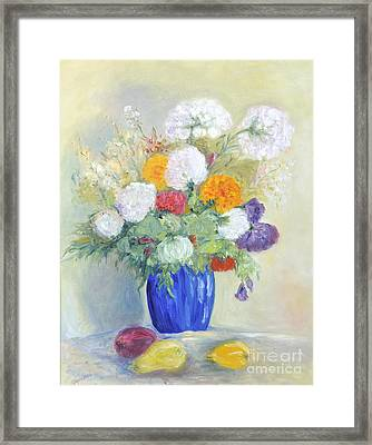 Framed Print featuring the painting Floral Symphonie by Barbara Anna Knauf