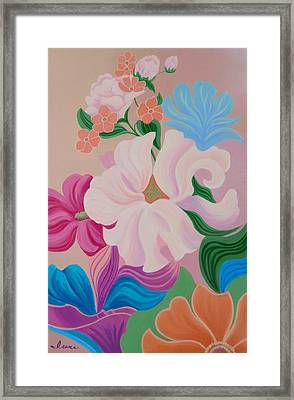 Framed Print featuring the painting Floral Symphony by Irene Hurdle