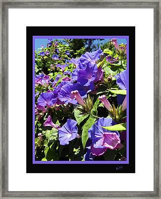 Floral Tango Framed Print by Kurt Van Wagner