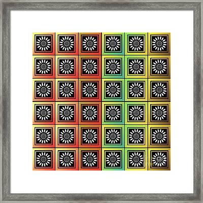 Floral Tessellation Framed Print