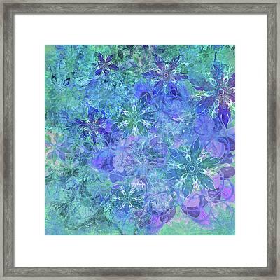 Floral Watercolor Blue Framed Print