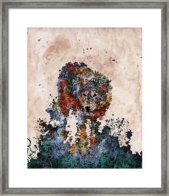 Floral Wolf 4 Framed Print