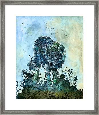 Floral Wolf 5 Framed Print