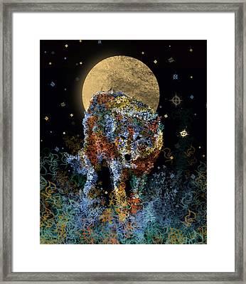 Floral Wolf 6 Framed Print