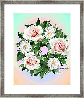 Floral Wreath Framed Print