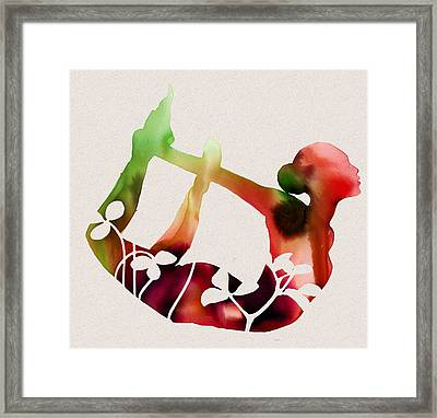 Floral Yoga Framed Print by Dana Vogel