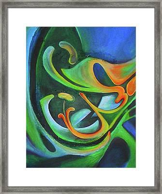 Floralblue Framed Print
