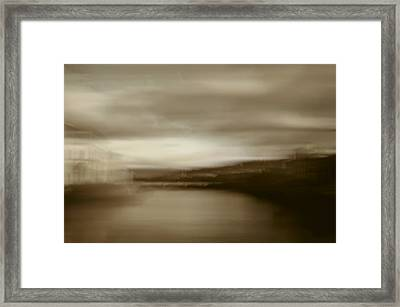 Florence, Arno River, Abstract Landscape Framed Print by Frank Tschakert