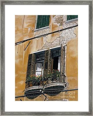 Florence Balcony Framed Print