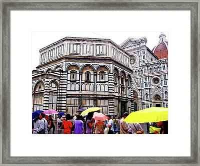 Florence Baptistery Framed Print by Debbie Oppermann