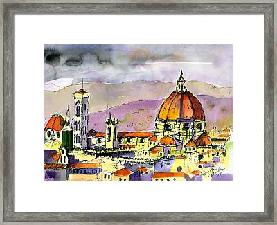 Florence Cathedral Italy Framed Print by Ginette Callaway