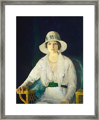 Florence Davey Framed Print by George Bellows