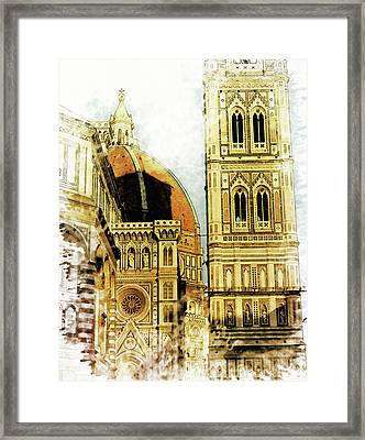 Florence Dome Architecture 1 - By Diana Van Framed Print by Diana Van