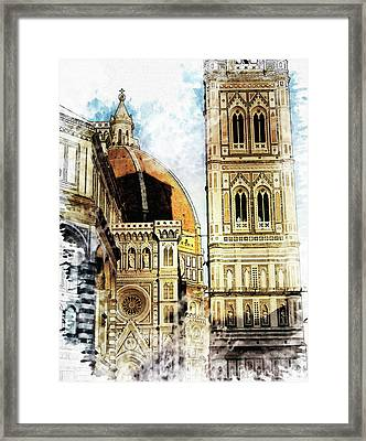 Florence Dome Architecture 4 - By Diana Van Framed Print by Diana Van
