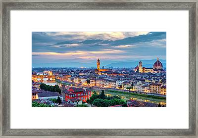 Framed Print featuring the photograph Florence by Fabrizio Troiani