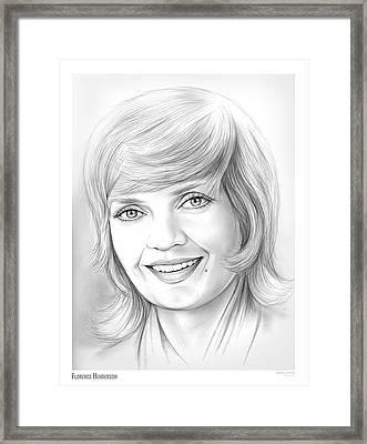 Florence Henderson Framed Print by Greg Joens