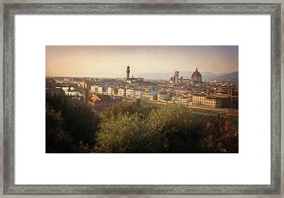 Florence Italy Cityscape Framed Print