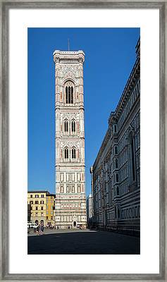 Florence, Italy. The Campanile, Or Bell Tower Designed By Giotto. Framed Print