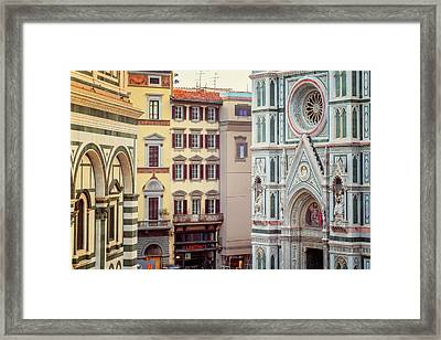 Framed Print featuring the photograph Florence Italy View by Joan Carroll