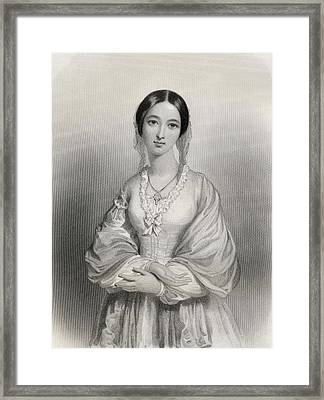 Florence Nightingale, 1820-1910 Framed Print by Vintage Design Pics