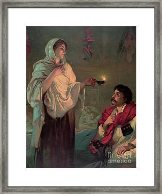 Florence Nightingale Framed Print by English School