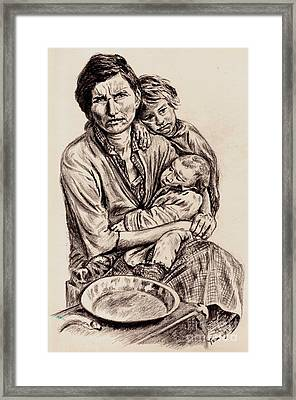 Florence Owens With Children Framed Print