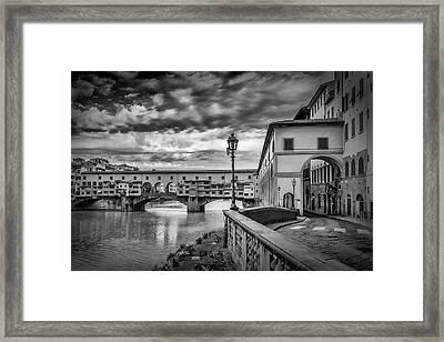 Florence Ponte Vecchio Framed Print