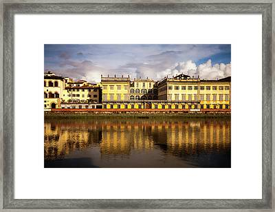 Florence Reflections Framed Print by Andrew Soundarajan